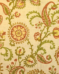 Yellow Jacobean Fabrics  Samanu Cliffside Spice