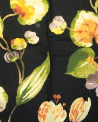 Large Print Floral Fabric  Spring Hill Cliffside Blackbird