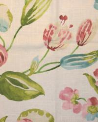 Large Print Floral Fabric  Spring Hill Cliffside Ivory