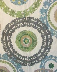 Blue Suzani Fabric  Taraz Spring