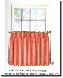 Cafe Curtains French Pleated by