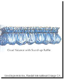 Cloud Valance with Standup Ruffle by