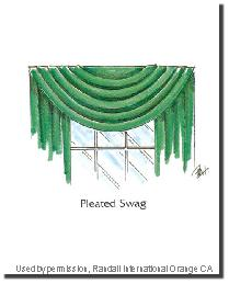 Pleated Swag by