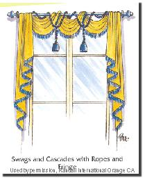 Swags and Cascades with Ropes and Fringe by