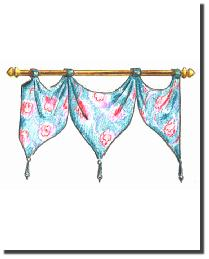 TAB PENNANT VALANCE  by