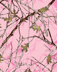 Camo Fabric  Conceal Pink Charmeuse Satin