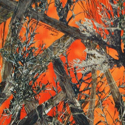 True Timber Fabrics True Timber MC2 Orange Twill Camo
