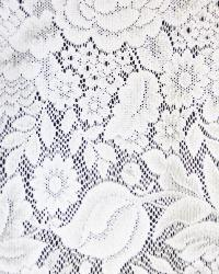 Medium Print Floral Fabric  Eden White