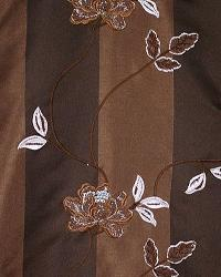 Brown Large Print Floral Fabric  Biltmore Cocoa