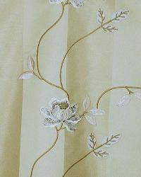 Beige Large Print Floral Fabric  Biltmore Natural