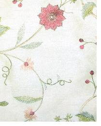 Valiant Garden Embroidery Beige Fabric