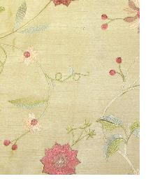 Valiant Garden Embroidery Coffee Fabric