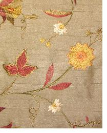 Valiant Garden Embroidery Dark Coffee Fabric