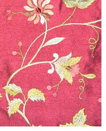 Garden Embroidery Maroon by