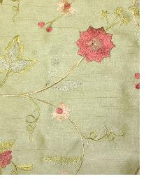 Valiant Garden Embroidery Sage Fabric