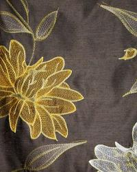 Brown Large Print Floral Fabric  Leila Graphite