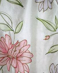 White Large Print Floral Fabric  Leila Vanilla
