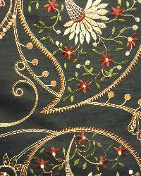 Black Classic Paisley Fabric  Serafina Black