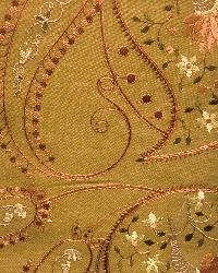 Orange Classic Paisley Fabric  Serafina Dune