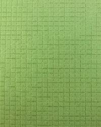 Green Quilted Matelasse Fabric  Checked Out Mint Julep