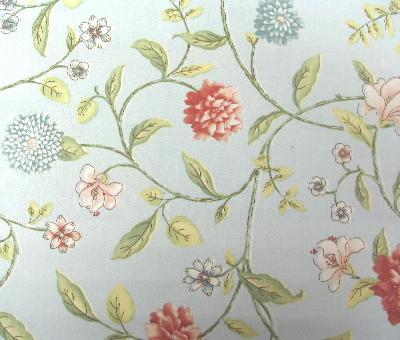 Waverly Nassau Vine Sat Mist Fabric