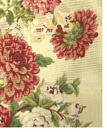 Red Medium Print Floral Fabric  Sitting Pretty NFL Antique Red