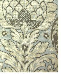 Blue Medium Print Floral Fabric  Venezia Vapor