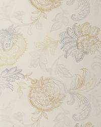 Beige Jacobean Fabrics  GLASGOW CHROME