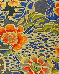 Blue Oriental Fabric  Narita Porcelain