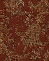 Red Medium Print Floral Fabric  Wes Alpine Red Orange