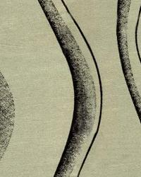 Black Circles and Swirls Fabric  Wes Freestyle Taupe Black