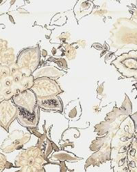 Large Print Floral Fabric  Wes Sneak Preview Stone