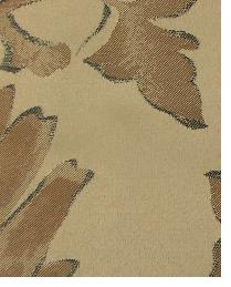 Brown Large Print Floral Fabric  Wes Davis Brown