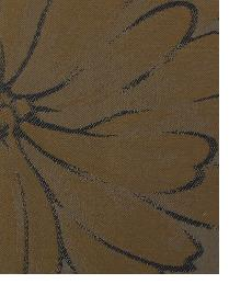 Brown Large Print Floral Fabric  Wes Davis Chocolate