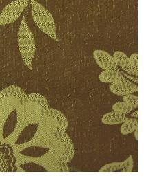 Brown Medium Print Floral Fabric  Wes Ontario Molasses