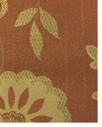 Orange Medium Print Floral Fabric  Wes Ontario Sienna