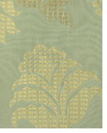 Green Large Print Floral Fabric  Wes Yukon Slate