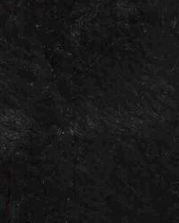Black Faux Fur Fabric  Crushed Rabbit Black