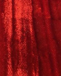 Red Furnishings Velvets Fabric  Mars Crushed Velvet Scarlet