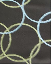 Brown Circles and Swirls Fabric  Bubbles Truffle