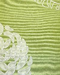 Green Circles and Swirls Fabric  Chacha Apple