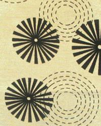 Beige Circles and Swirls Fabric  Erica Latte