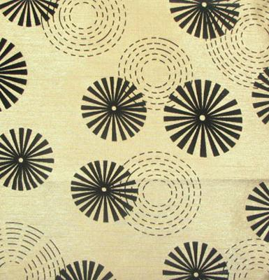World Wide Fabric  Inc Erica Latte Circles and Swirls