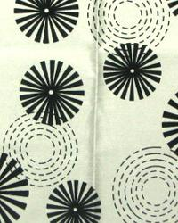 White Circles and Swirls Fabric  Erica White