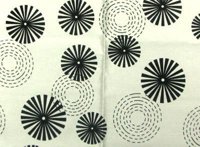 World Wide Fabric  Inc Erica White Circles and Swirls