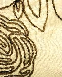 Beige Medium Print Floral Fabric  Madrid Ecru