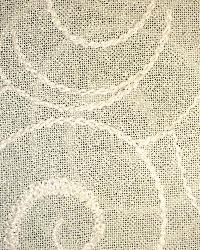 Beige Circles and Swirls Fabric  Mantra Beige