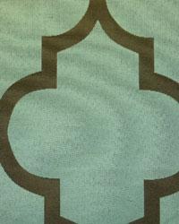 Blue Trellis Diamond Fabric  Mimosa Teal