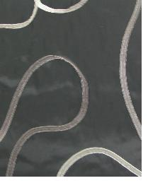 Black Circles and Swirls Fabric  Ribbon Ebony