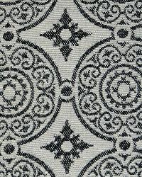 White Suzani Fabric  Taza Ebony